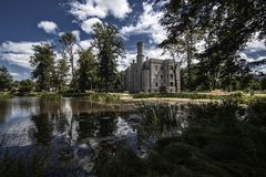 Исторический замок в Karpniki, Польше Стоковое фото RF