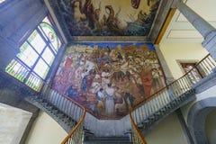 Исторический замок - замок Chapultepec Стоковое Изображение RF