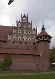 Исторический замок Мальборка стоковое изображение