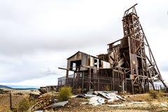 Исторический золотодобывающий рудник в Викторе Колорадо стоковые фотографии rf