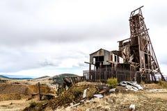 Исторический золотодобывающий рудник в Викторе Колорадо стоковое фото rf