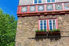 Исторический здание муниципалитет Herborn, Германии стоковое фото