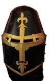 Исторический изолированный панцырь шлема рыцарей Стоковые Изображения RF