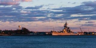 Исторический линкор USS Нью-Джерси BB62 Стоковые Изображения
