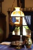 Исторический дисплей интерьера сельского дома Стоковое Изображение