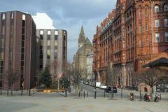 Исторический и современный Манчестер Стоковые Изображения