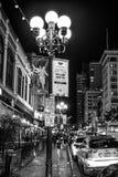 Исторический квартал Сан-Диего к ночь - КАЛИФОРНИЯ Gaslamp, США - 18-ОЕ МАРТА 2019 стоковые фото
