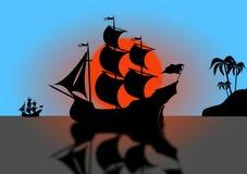 исторический корабль Стоковые Фотографии RF