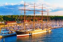 Исторический корабль в Travemunde, Германии Стоковые Фото