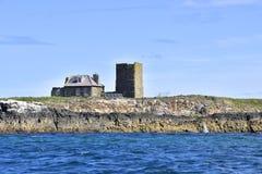 Исторический коттедж острова северной восточной Англии Стоковые Изображения RF