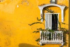 Исторический колониальный балкон Стоковое фото RF