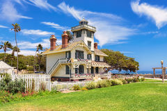 Исторический маяк Fermin пункта; San Pedro, Калифорния Стоковое фото RF