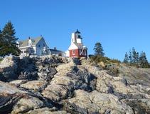 Исторический маяк Pemaquid стоковая фотография rf