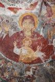 Исторический монастырь Sumela фресок церков Стоковая Фотография