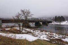Исторический мост-водовод Делавера - место наследия канала Делавера и Гудзона стоковое изображение rf