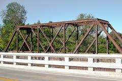Исторический мост железной дороги долины Vaca Стоковые Изображения RF