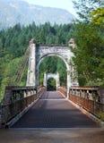 Исторический мост Река Fraser Александры Стоковое Изображение RF