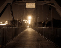 Исторический мост ферменной конструкции стоковое изображение rf