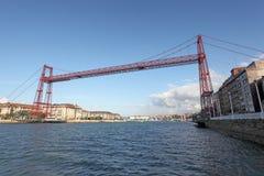 Исторический мост Vizcaya в Бильбао, Испании Стоковое Фото