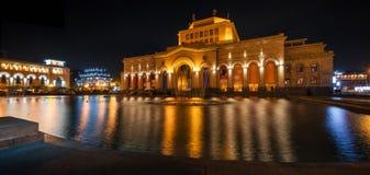 Исторический музей и фонтан танцев Стоковые Изображения