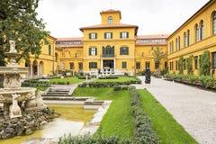 Исторический музей Lenbachhaus в Мюнхене, Германии Стоковые Изображения RF