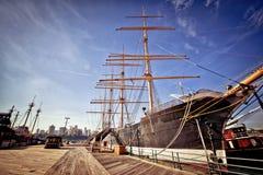 исторический новый schooner york Стоковые Фотографии RF