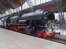 Исторический локомотив DR в Лейпциге Hbf Стоковое Изображение RF