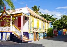 Исторический дом в острове St.Tomas Стоковая Фотография