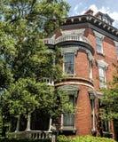 Исторический дом красного кирпича Georgia саванны Стоковая Фотография RF