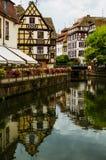 Исторический дом Ла маленькой Франции в страсбурге, Эльзасе, Франции Стоковое фото RF