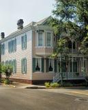 Исторический дом пинка Georgia саванны Стоковая Фотография RF