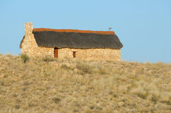 Исторический дом поселенца в Kgalagadi Transfron Стоковое Изображение RF