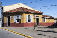 Исторический дом Itanhaem Сан-Паулу Бразилия стоковые фотографии rf