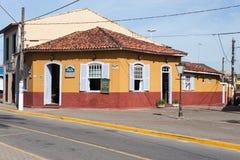 Исторический дом Itanhaem Сан-Паулу Бразилия стоковые изображения rf