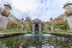 Исторический ориентир ориентир вокруг замка Arundel стоковое фото rf