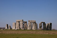 Исторический памятник Стоунхендж, Англия, Великобритания стоковая фотография