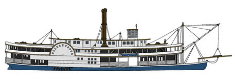 Исторический пароход Стоковое Изображение