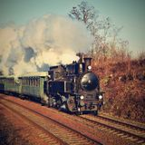 исторический поезд пара Специально запущенный чехословакский старый поезд пара для отключений и для путешествовать вокруг чехии Стоковые Изображения