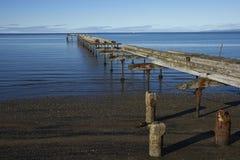 Исторический портовый район арен Punta, Чили стоковые изображения rf