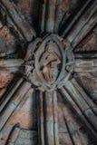 Исторический потолок замка стоковое фото