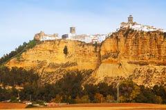 Исторический район в испанском городке la arcos de frontera Стоковое фото RF