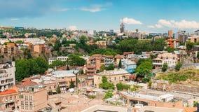 Исторический район Abanotubani - район ванны в городке Тбилиси старом Стоковая Фотография
