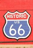 исторический символ трассы 66 Стоковые Фото