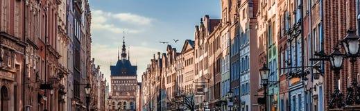 Исторический старый городок Гданьска в Польше Стоковое Фото