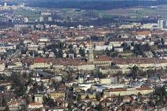 Исторический старый городок Bern увиденный в расстоянии Стоковая Фотография RF