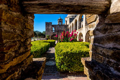 Исторический старый западный испанский полет Сан-Хосе, основанный в 1720, национальный парк Стоковые Изображения