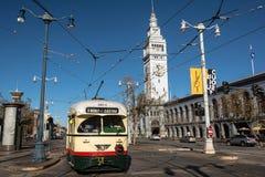 Исторический трамвай в Сан-Франциско Стоковые Фотографии RF