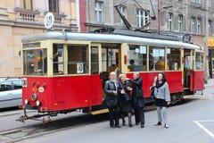 Исторический трам в Bytom Стоковое Изображение