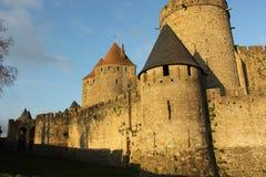 Исторический укрепленный город Carcassone, Франции Стоковые Изображения
