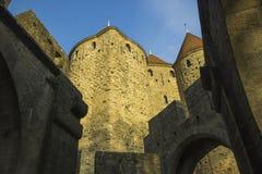 Исторический укрепленный город Carcassone, Франции Стоковое фото RF